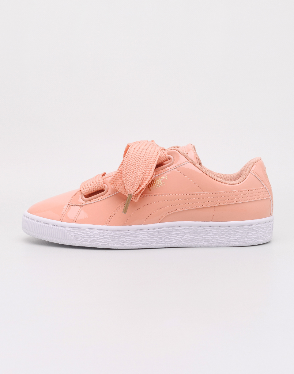 Puma Basket Heart Patent Dusty Coral Dusty Coral 37