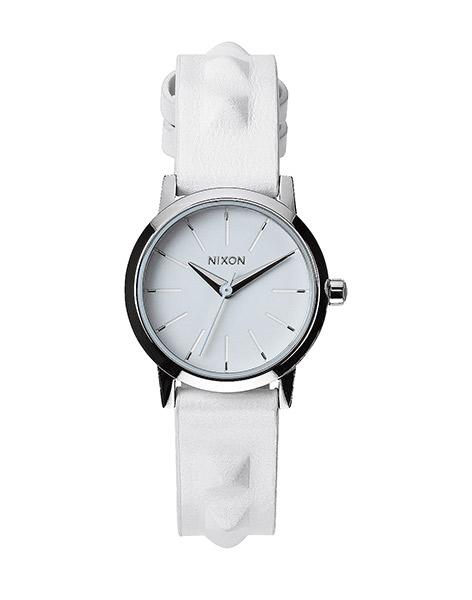 Hodinky Nixon Kenzi Leather all white / studded + doprava zdarma