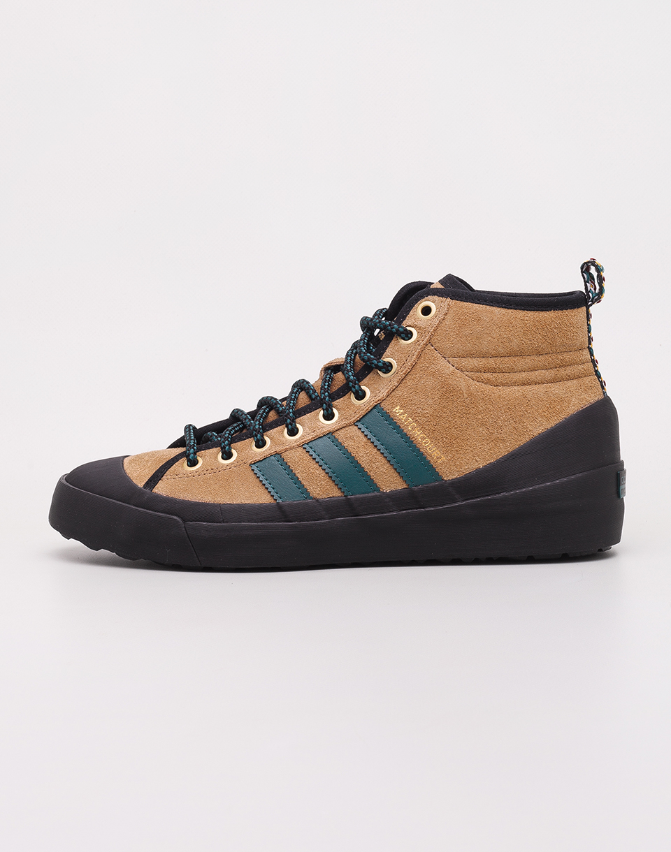 Adidas Originals Matchcourt High RX3 Raw Desert  Noble Green  Black 39