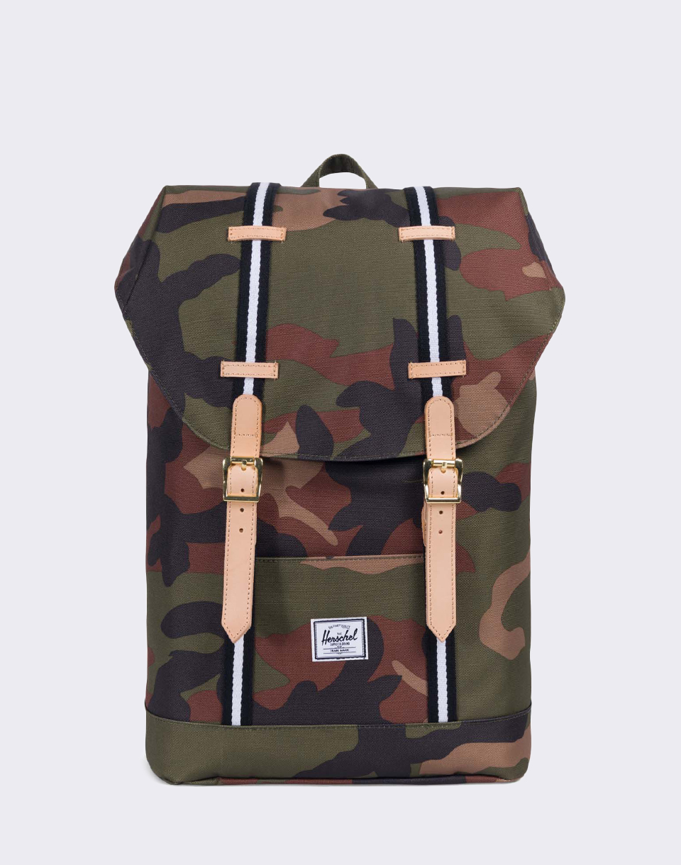 Herschel Supply Offset Retreat Mid Volume Woodland Camo Black White
