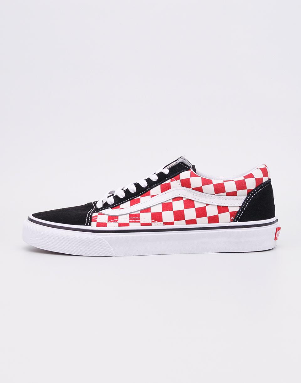 Vans Old Skool (Checkerboard) Black/Red 46