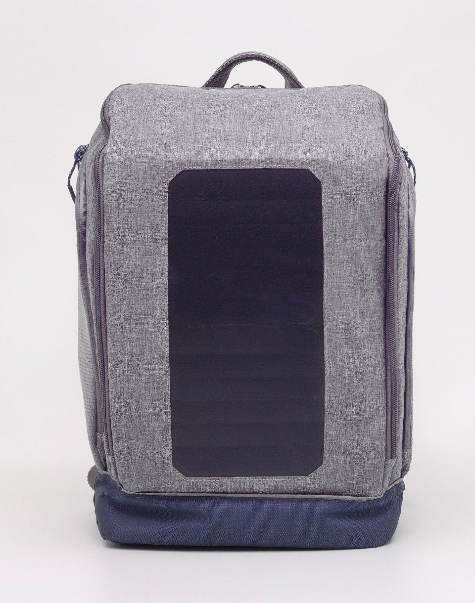 Knowledge Cotton Solar Backpack Big 1133 Monument Grey Mix