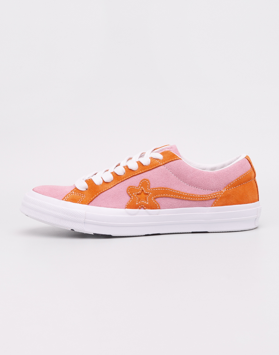 Converse Golf Le Fleur OX Candy Pink   Orange Peel   White 41