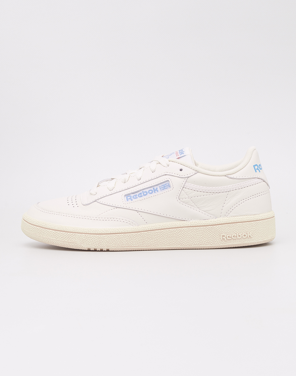 Reebok Club C 85 Vintage Chalk  Paper White  Athletic Blue  Exc Red 39