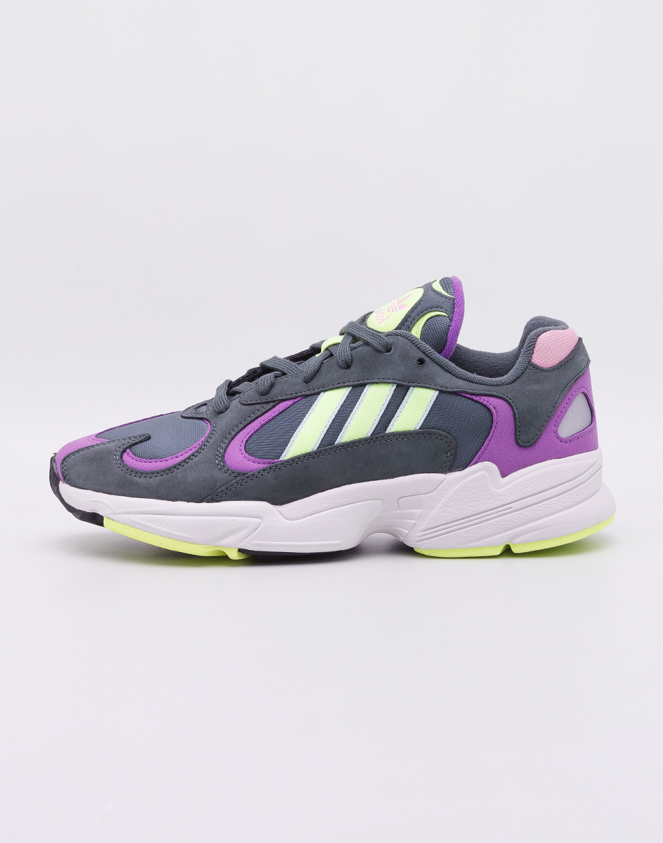 adidas Originals Yung 1 Legend Ivy  Hi Res Yellow  Active Purple 45