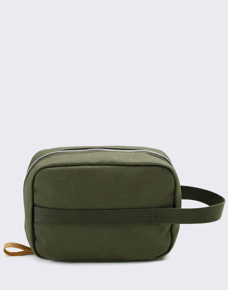 QWSTION Toiletry Kit Organic Forest Green