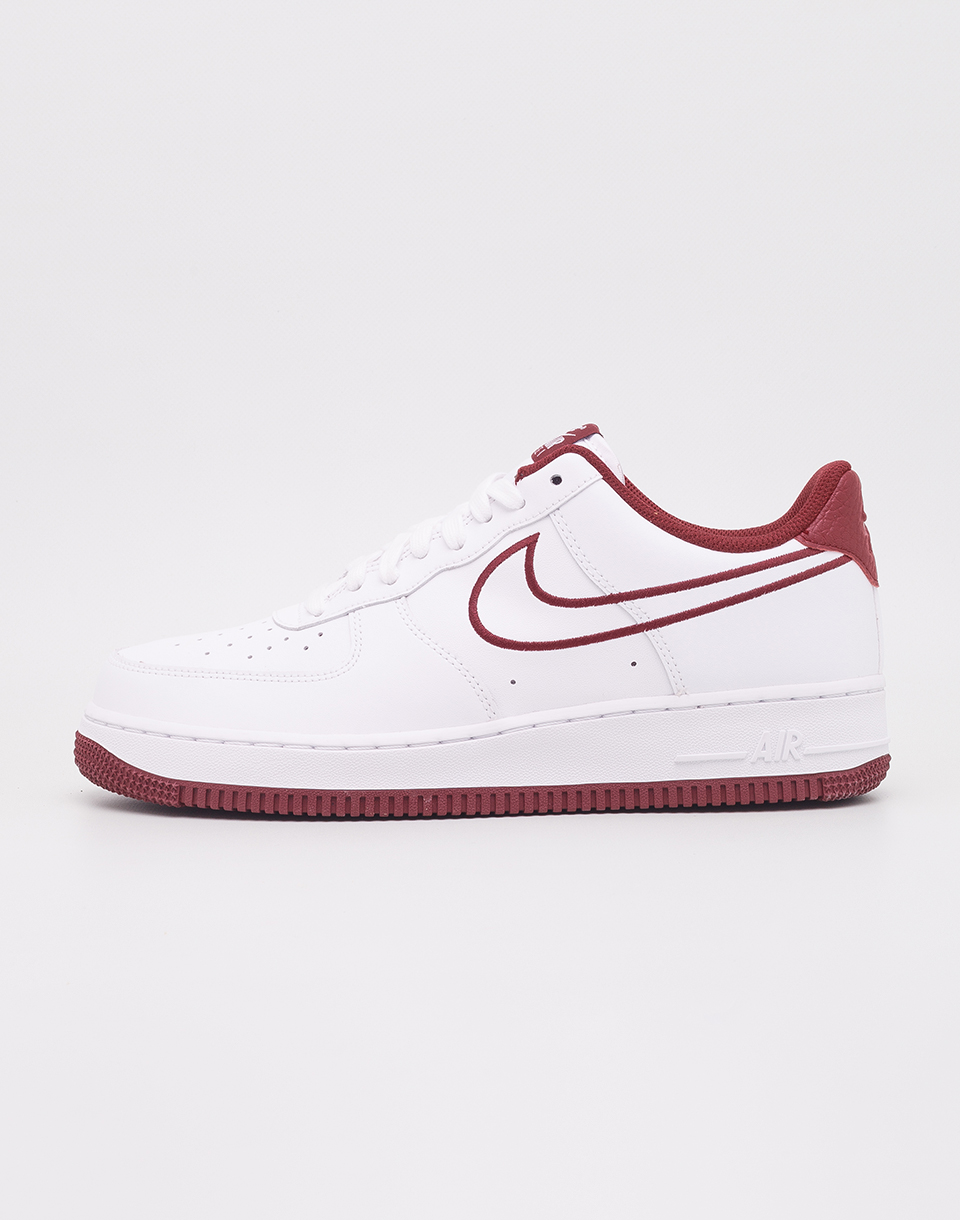 Nike Air Force 1  07 Leather White  Team Red 41