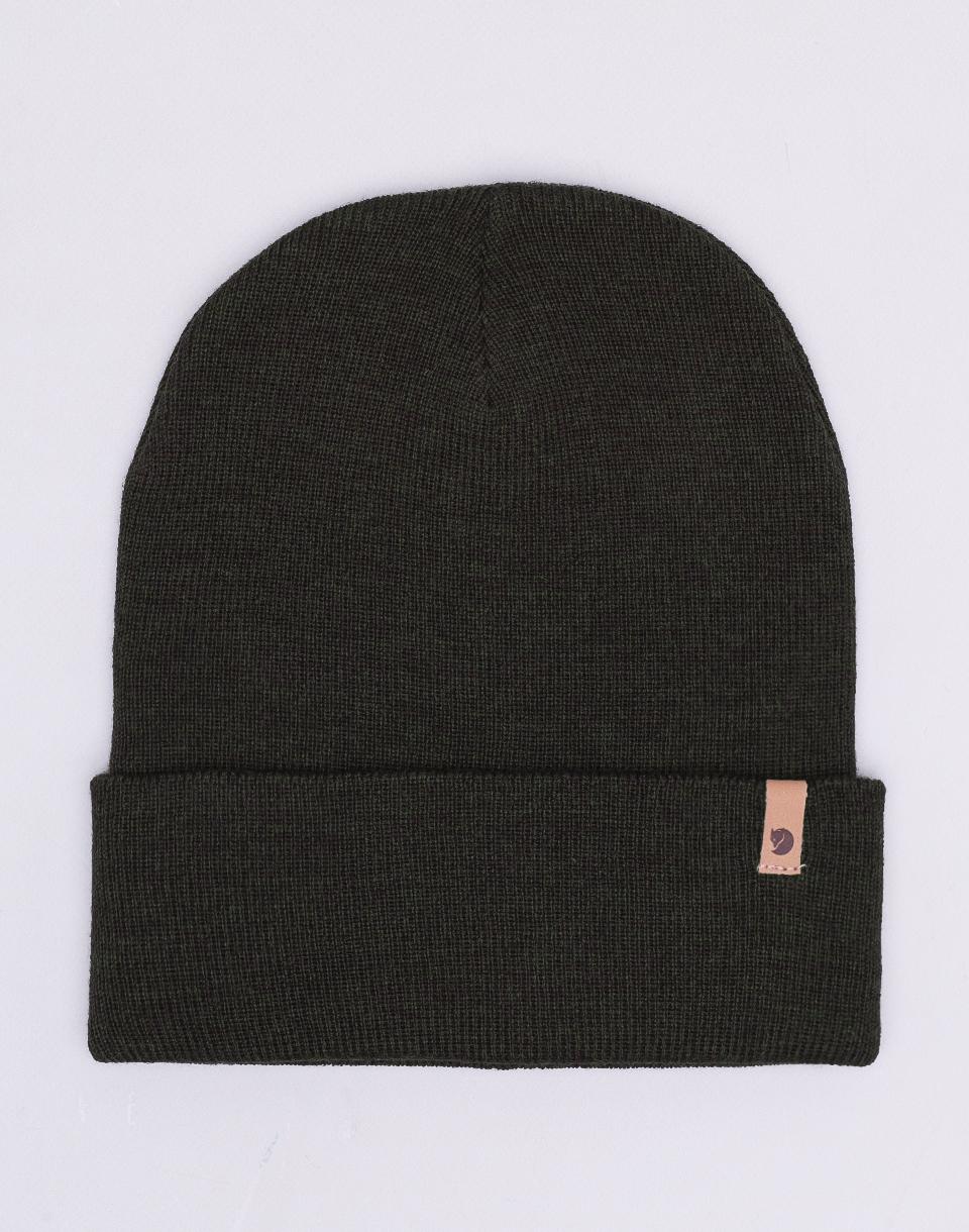 Fjällräven Classic Knit Hat 633 Dark Olive