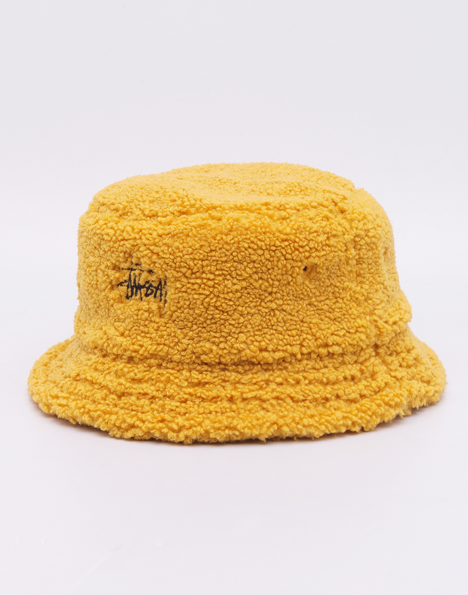 Stüssy Sherpa Fleece Bucket Hat Yellow S/M