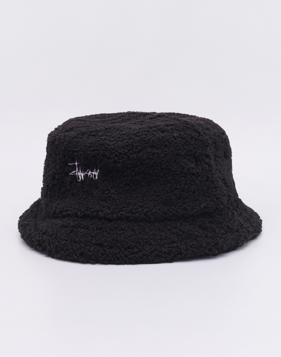 Stüssy Sherpa Fleece Bucket Hat Black S/M