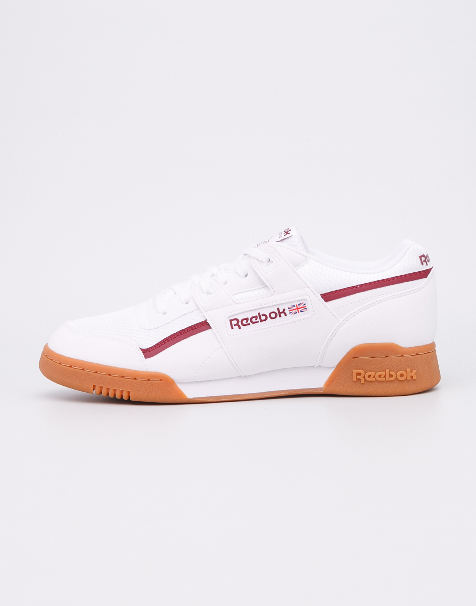 Reebok Workout Plus MVS White  Urban Maroon  Chalk Green 44