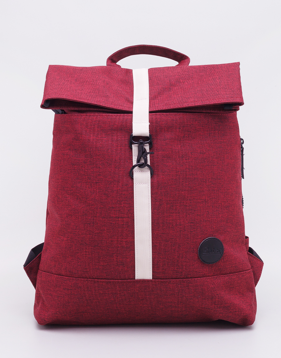 Enter City Fold Top Melange Wine Red/ Natural Front Strap