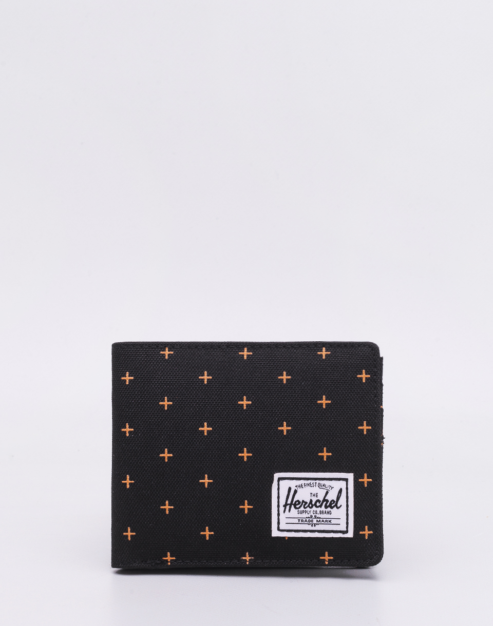 Herschel Supply Roy + Coin RFID Black Gridlock Gold