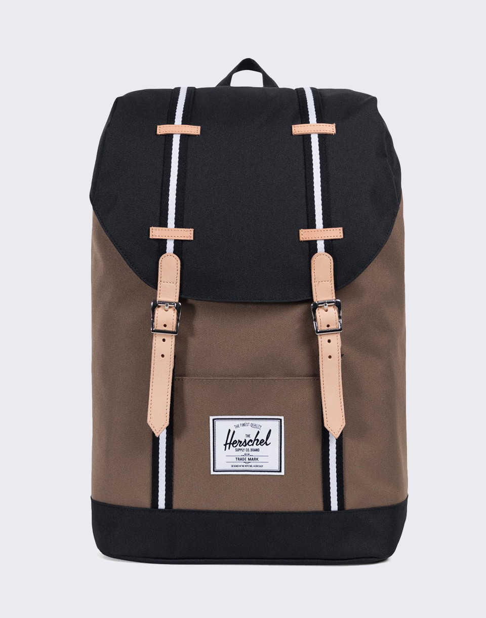 Herschel Supply Offset Retreat Cub Black White