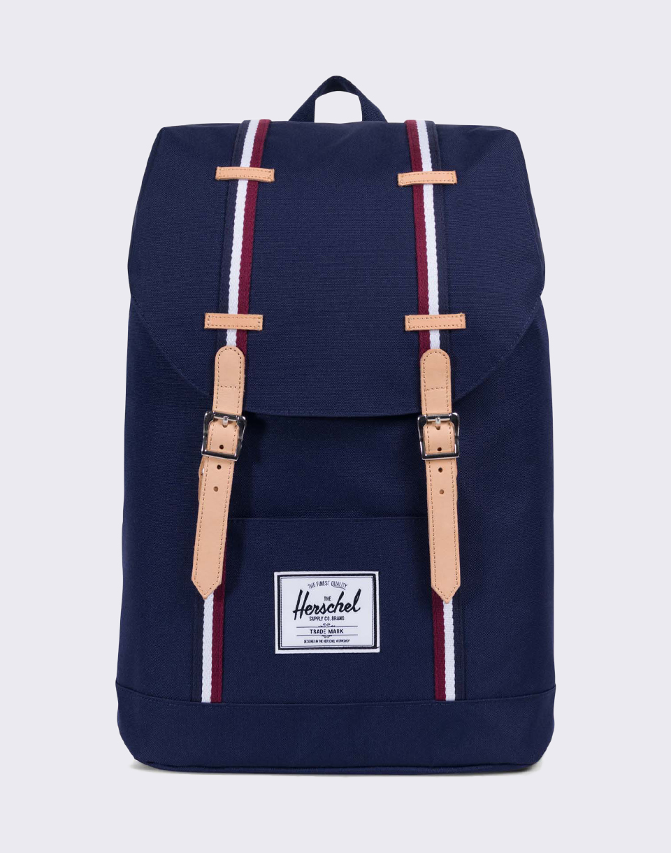 Herschel Supply Offset Retreat Peacoat Windsor Wine White