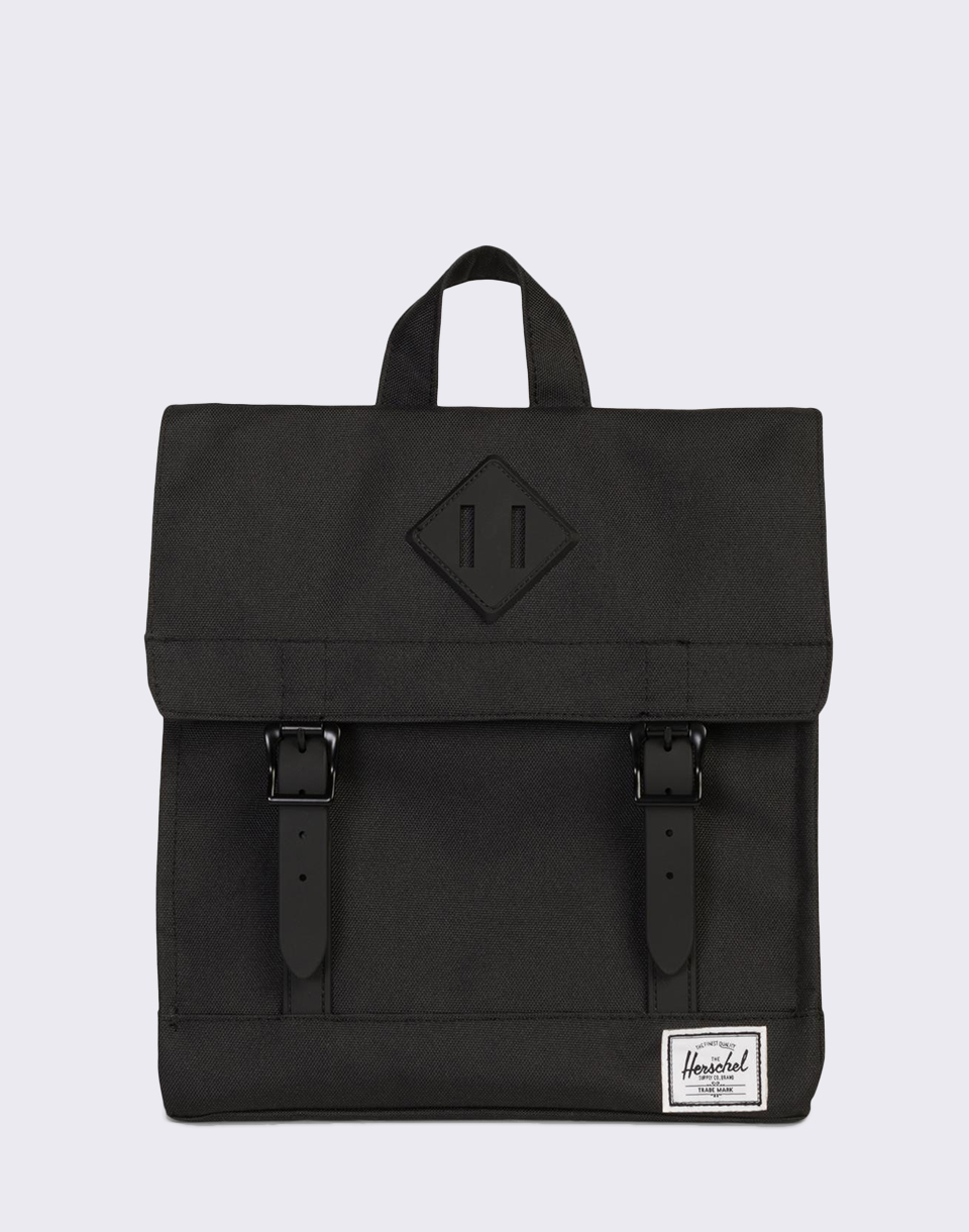 Herschel Supply Survey Kids Black Black Rubber