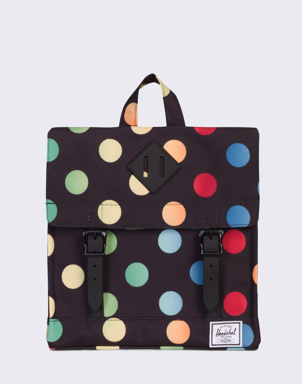 Herschel Supply Survey Kids Black Rainbow