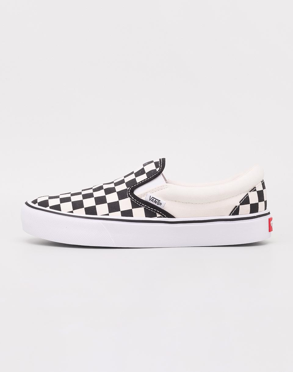 Vans Slip-On Lite (Checkerboard) Black  Classic White 36 4cb1bde162