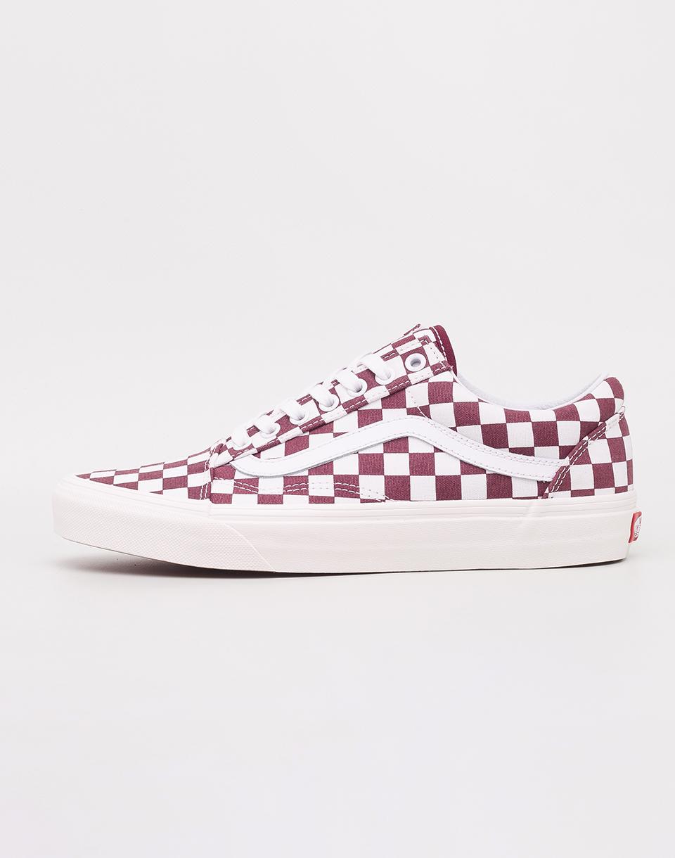 Vans Old Skool (Checkerboard) Port Royale/ Marshmallow 42