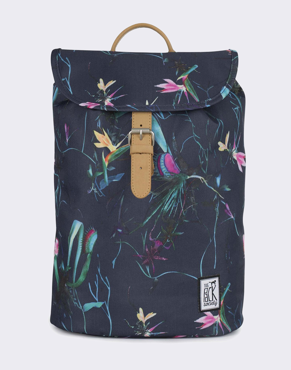 The Pack Society Small Dark Blue Jungle Allover