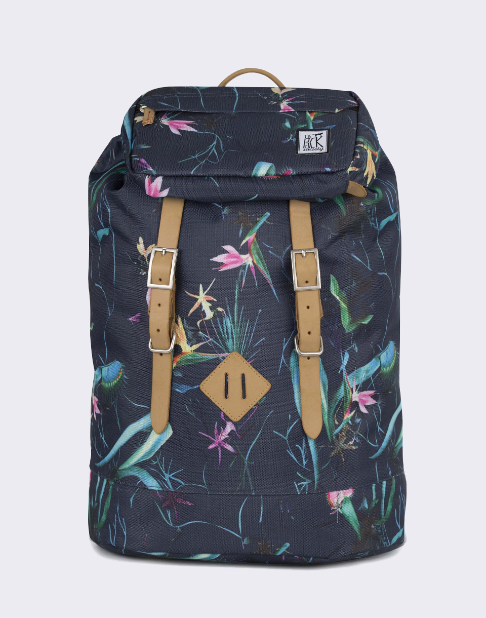 The Pack Society Premium Dark Blue Jungle Allover