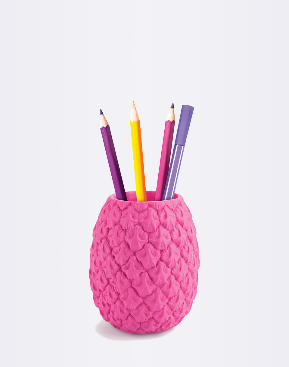 Just Mustard Totally Tropical Pen Pot Pink