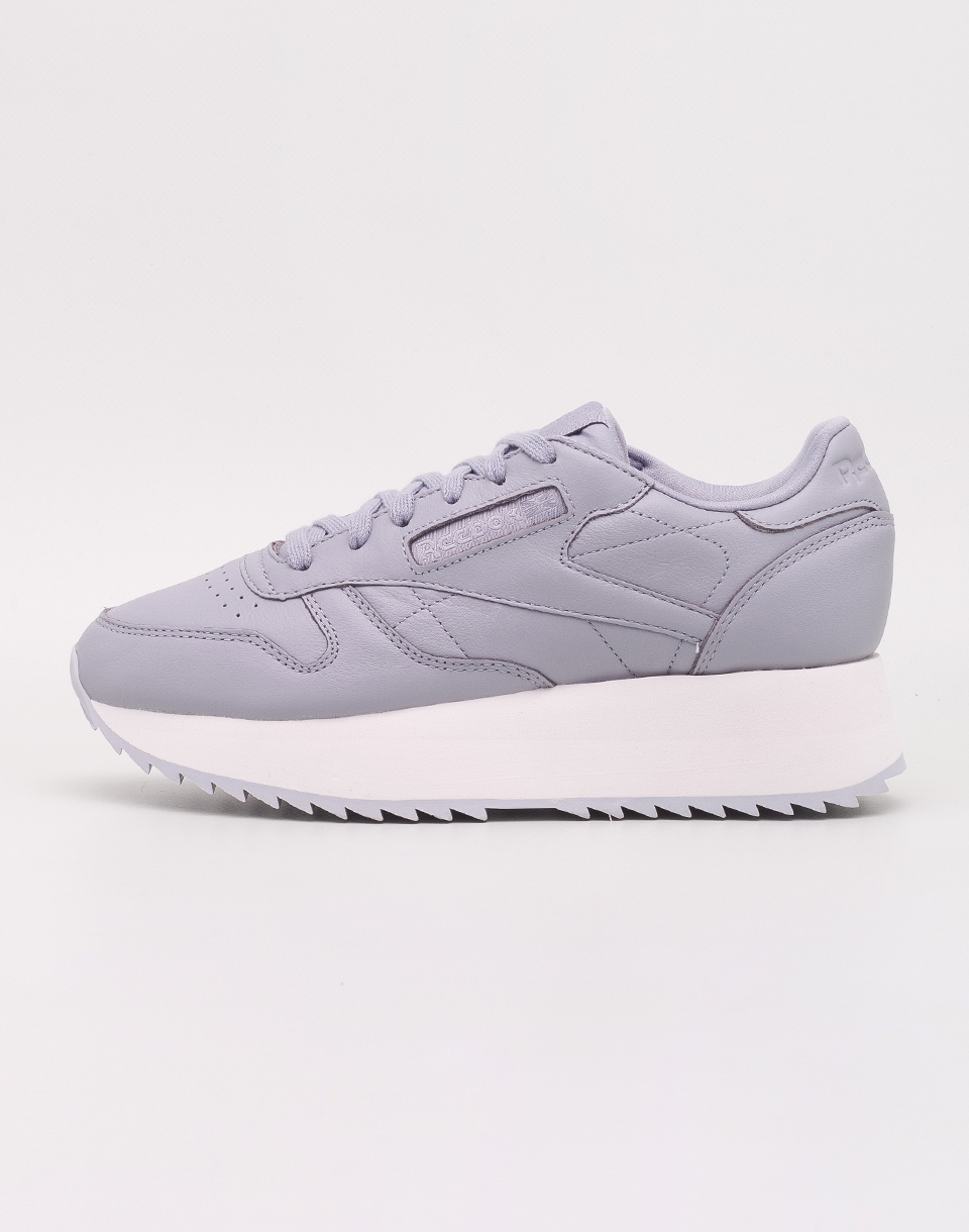 Reebok Classic Leather Double Double Cool Shadow  Chalk  Cloud Grey 37