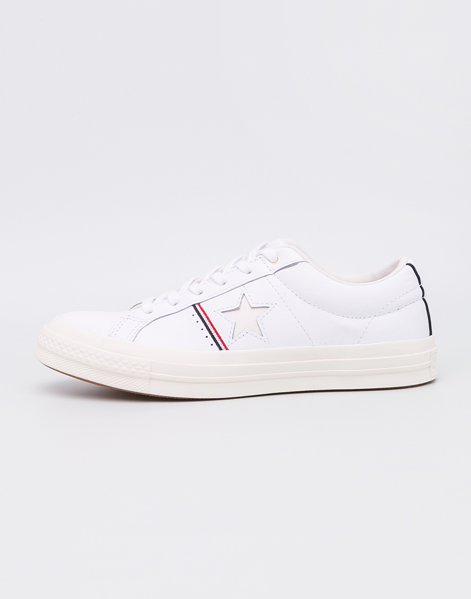 Converse One Star White Enamel Red Egret 40