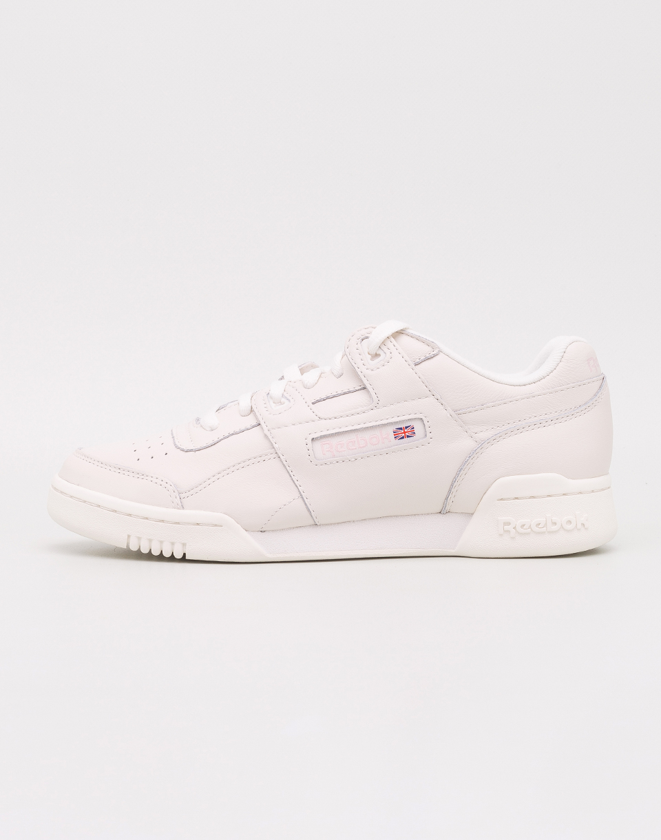 Reebok Workout LO Plus White  Practical Pink 37