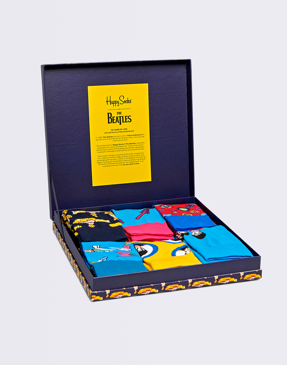 Happy Socks The Beatles Collector Box Set XBEA10 6000 36 40