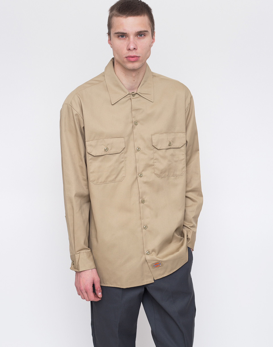 Dickies Work Shirt Khaki L