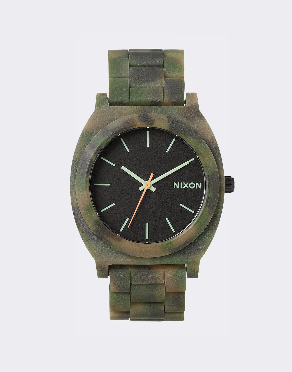 Hodinky Nixon Time Teller Acetate Matte Black/Camo + doprava zdarma
