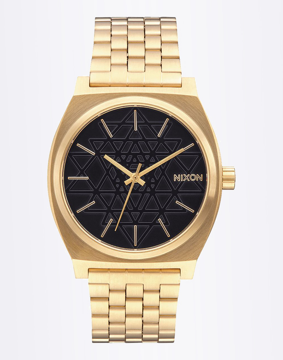 Hodinky Nixon Time Teller Gold/Black/Stamped + doprava zdarma