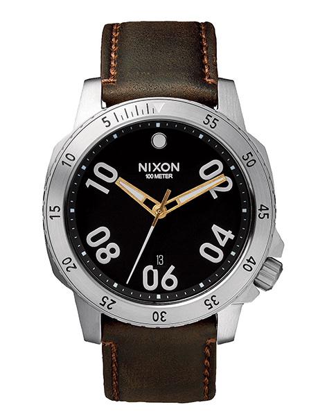 Hodinky Nixon Ranger Leather black brown + doprava zdarma