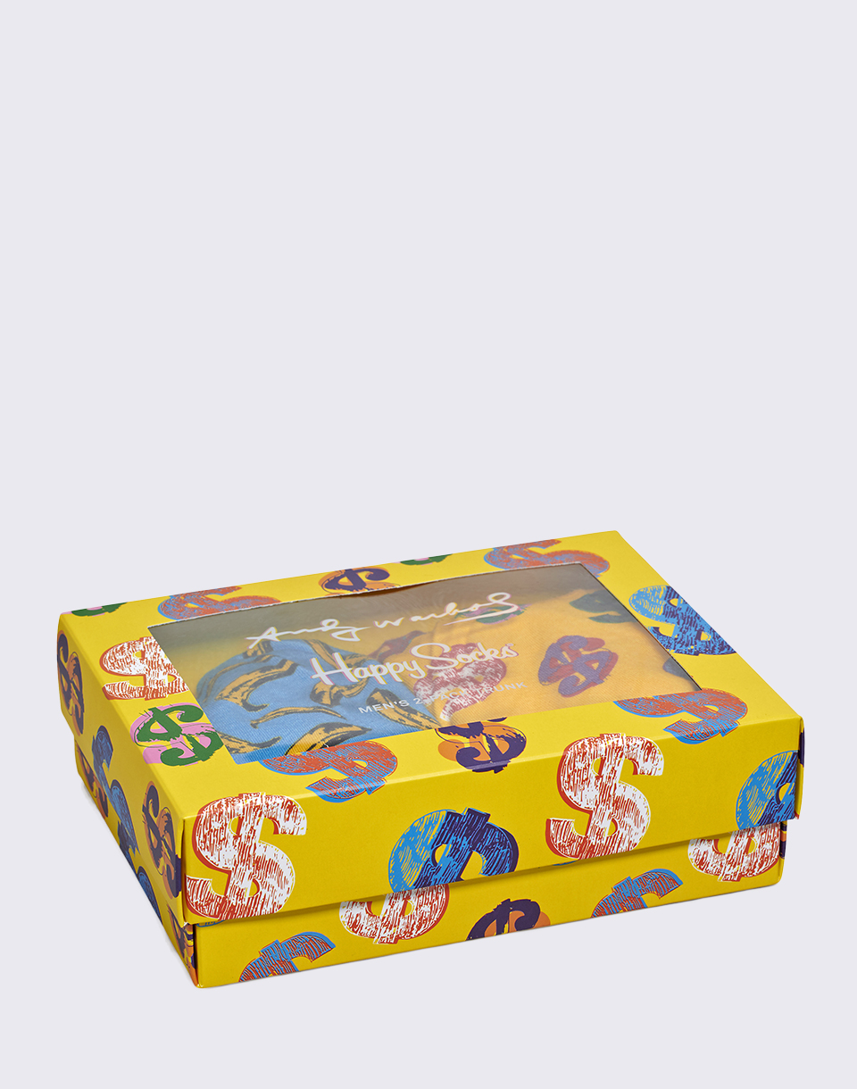Happy Socks Andy Warhol Trunk Box Set 2 Pack XAWARH96 6000 M