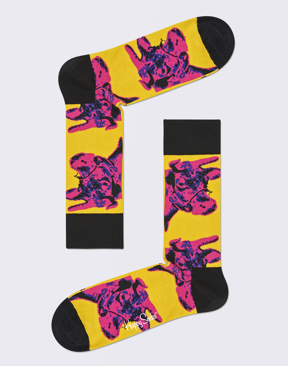 Happy Socks Andy Warhol Cow AWCOW01 3000 36 40