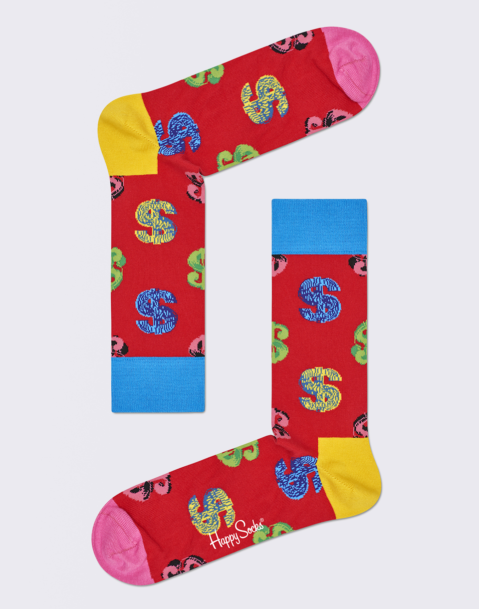 Happy Socks Andy Warhol Dollar AWDOL01 4000 36 40