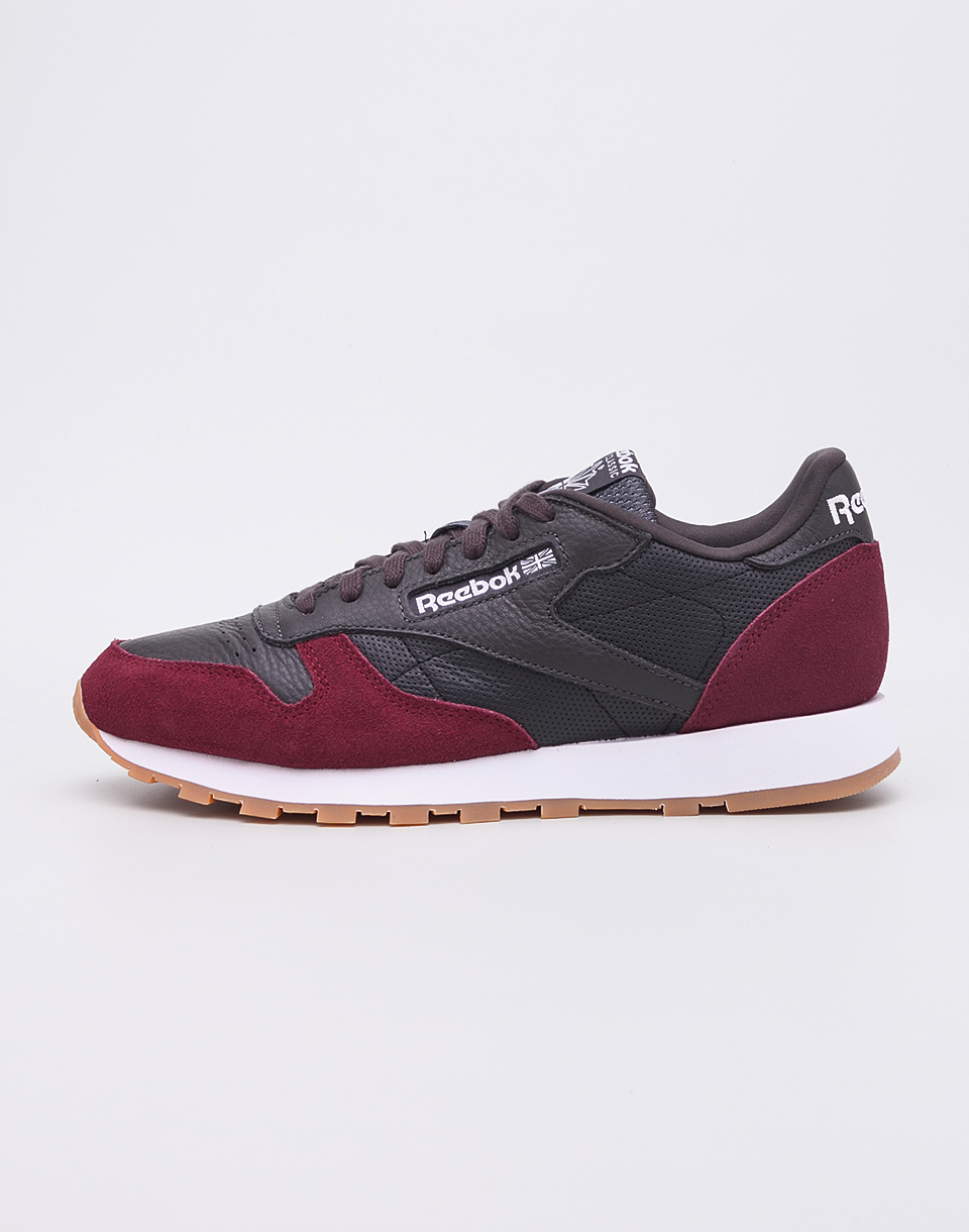 Reebok Classic Leather GI Coal Urban Maroon White Gum 43