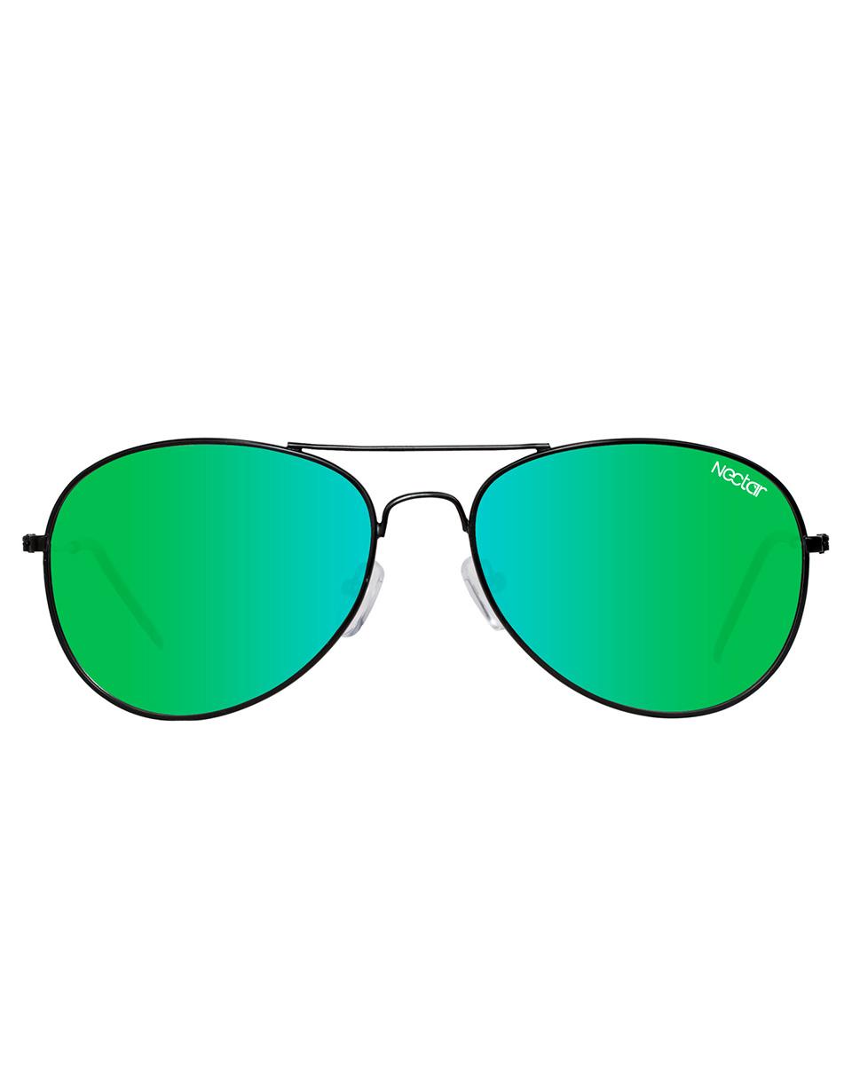 Sluneční brýle Nectar Baltic Polarized matte black / blue green