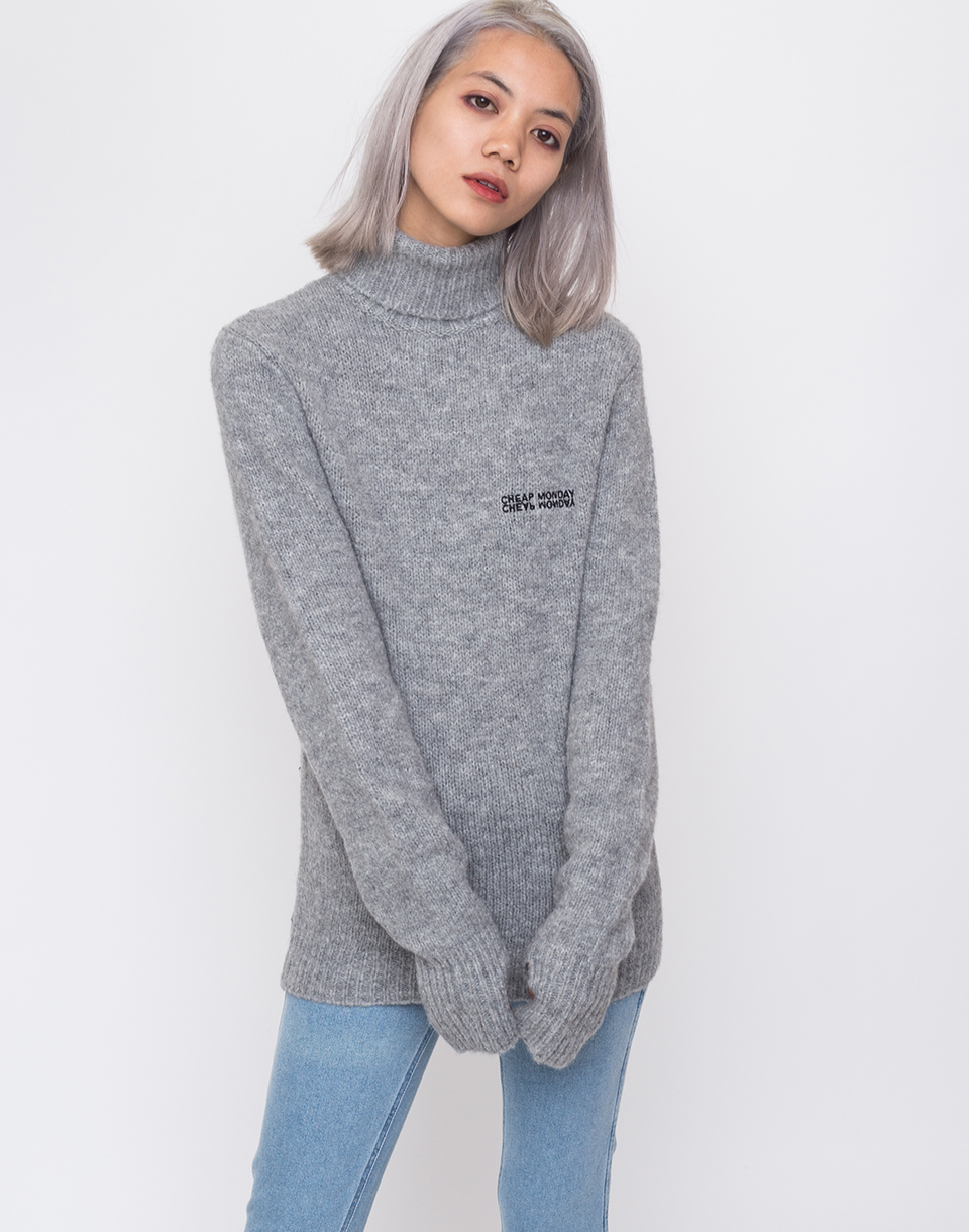 Cheap Monday Tap knit Echologo Grey Melange XS
