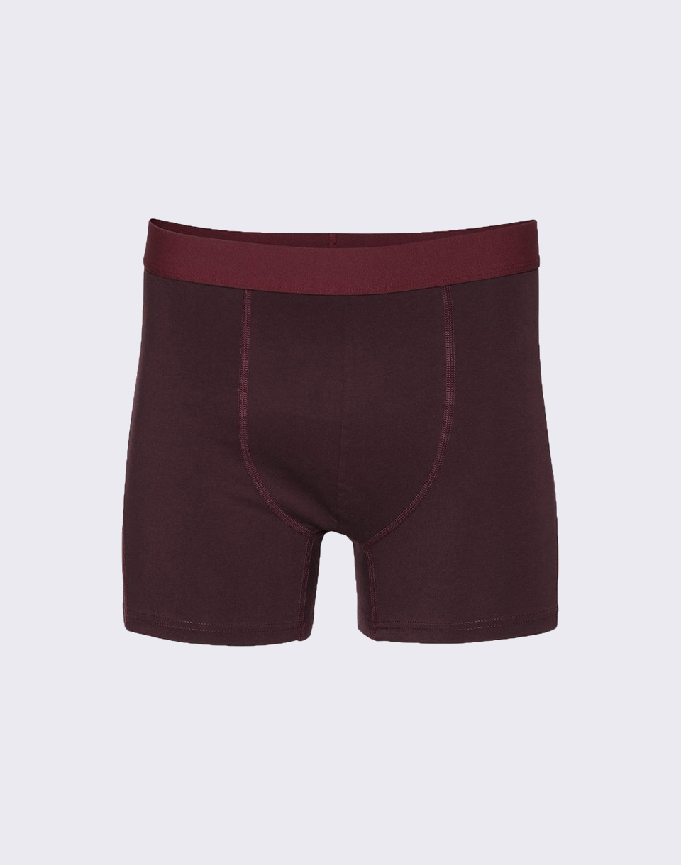 Colorful Standard Classic Organic Boxer Briefs Oxblood Red S