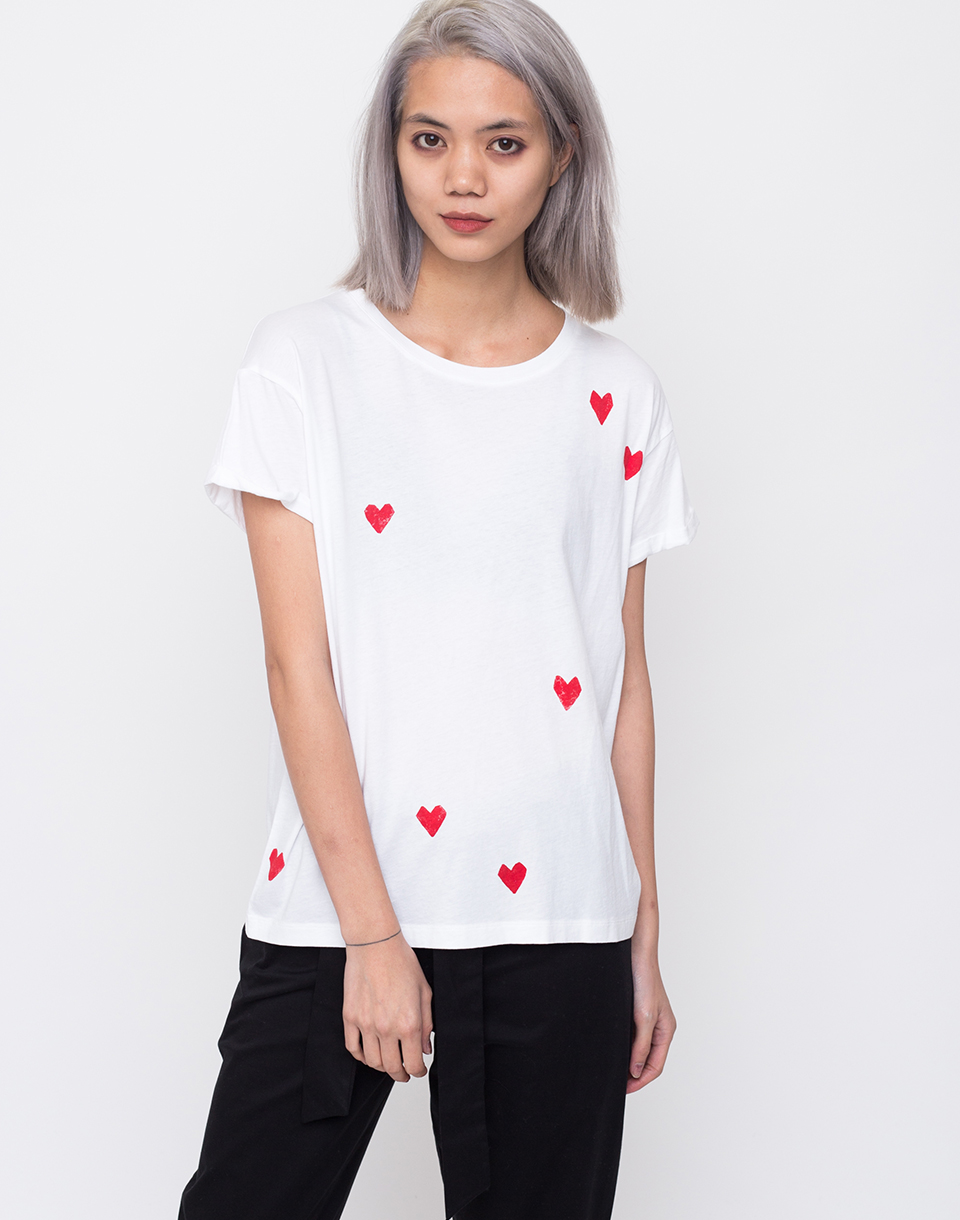 ArmedAngels Nalin Hearts White L