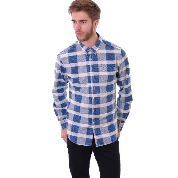 TWOTHIRDS Skye Check   Antique White   Northern Blue L