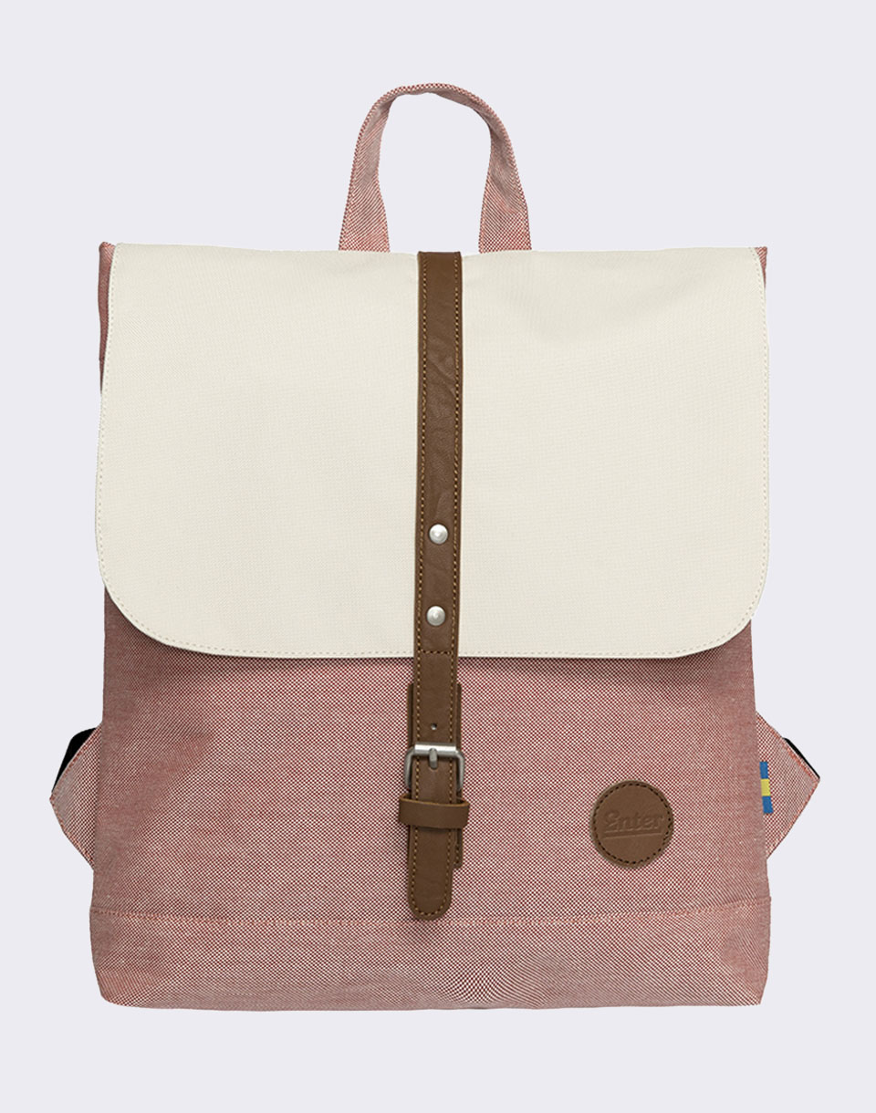 Enter Backpack Mini Melange Red  Natural Top