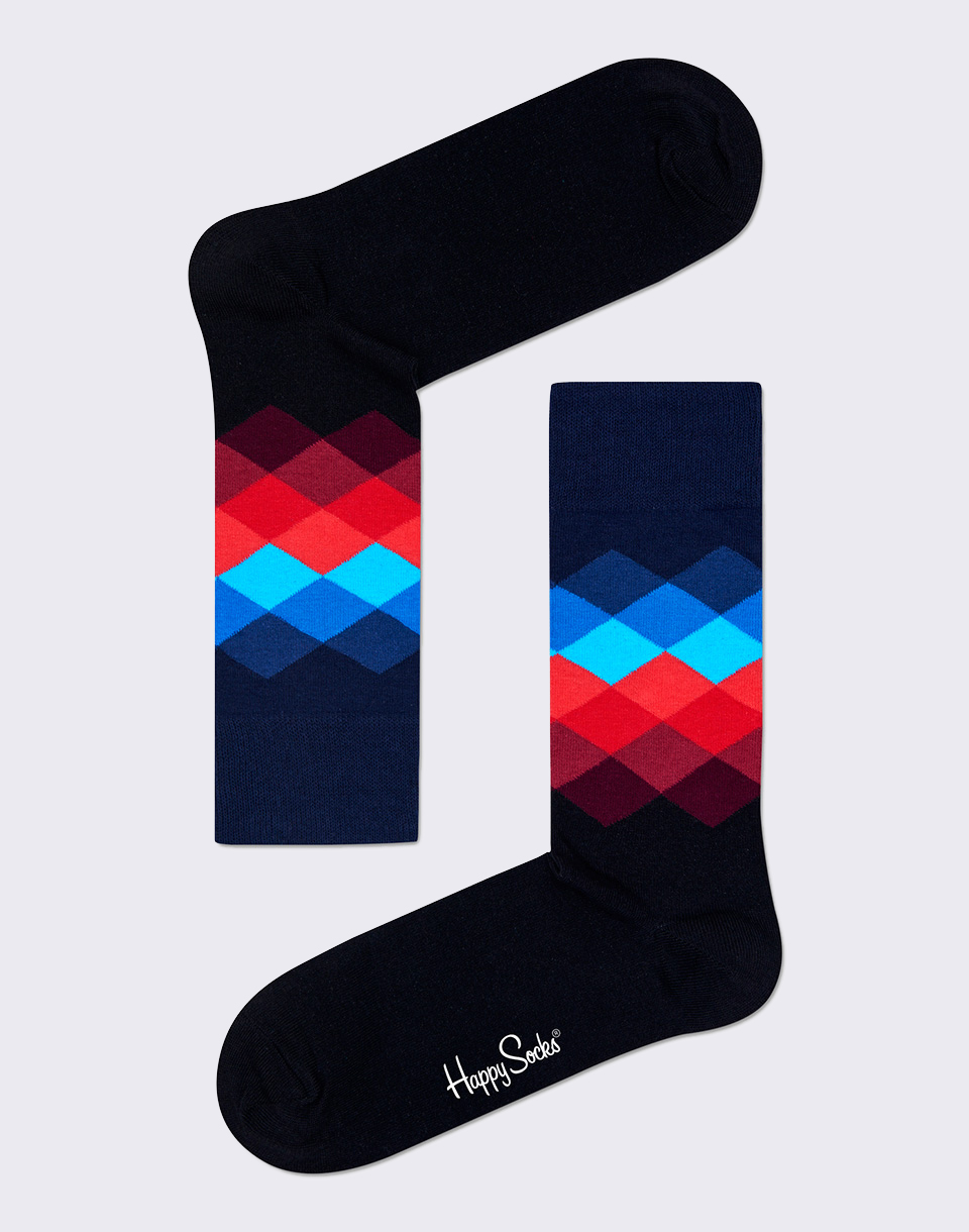 Happy Socks Faded Diamond FD01 069 36 40