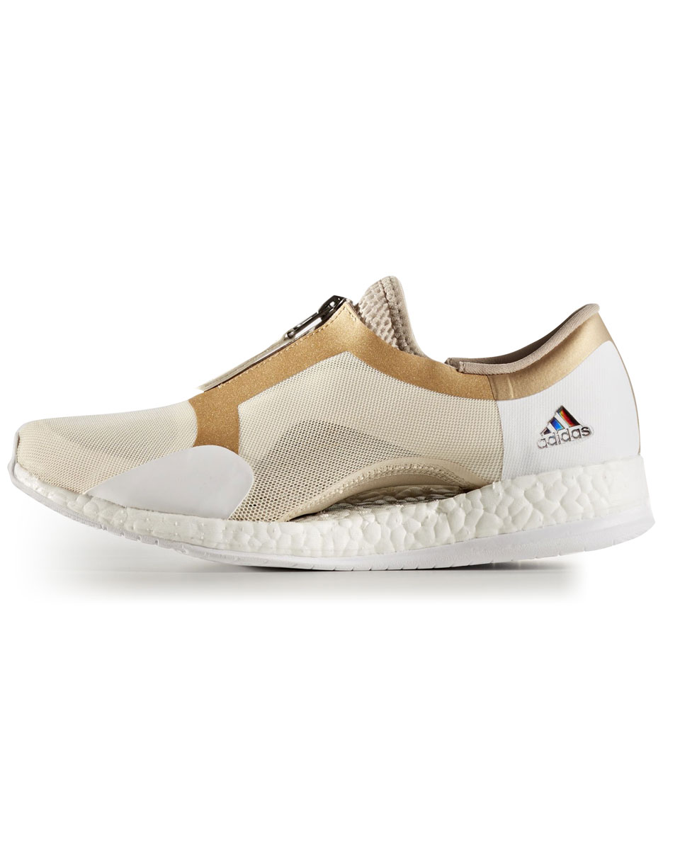 Adidas Performance Pure Boost x Trainer Zip Linen   Trace Khaki   Tactile Gold Metalic 37