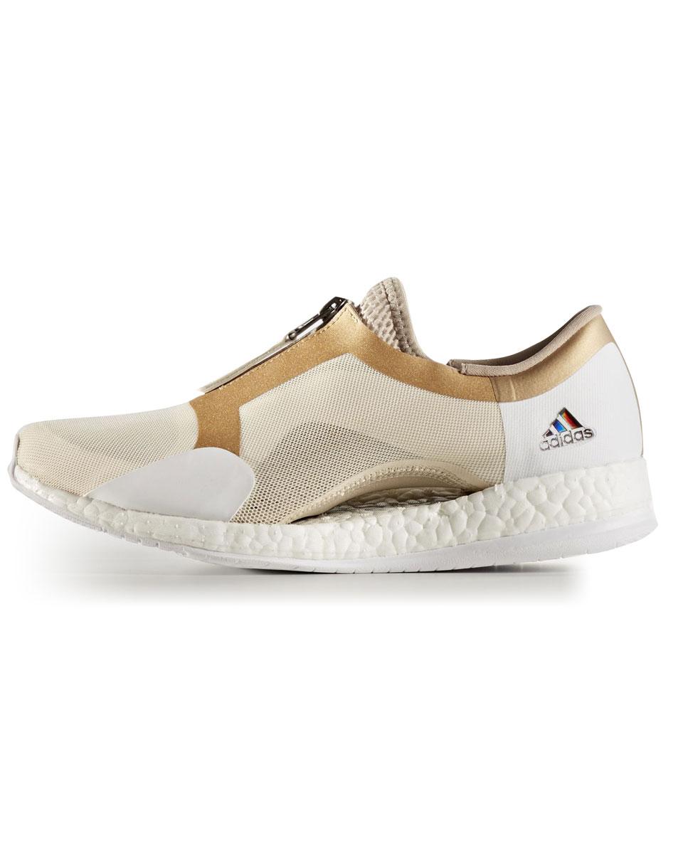 Sneakers - tenisky Adidas Performance Pure Boost x Trainer Zip Linen / Trace Khaki / Tactile Gold Metalic 37 + doprava zdarma