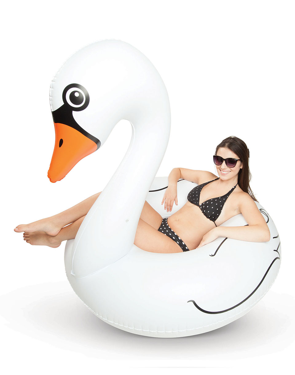Big Mouth Pool Float White Swan 1 2m BMPFWS