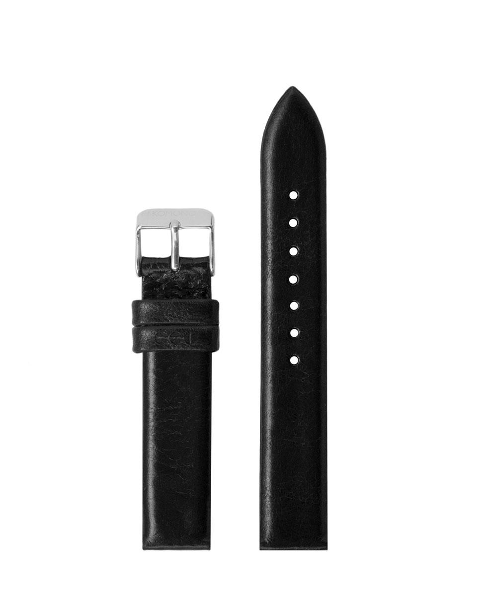 Hodinky Komono Estelle Strap 16.5 Black Silver