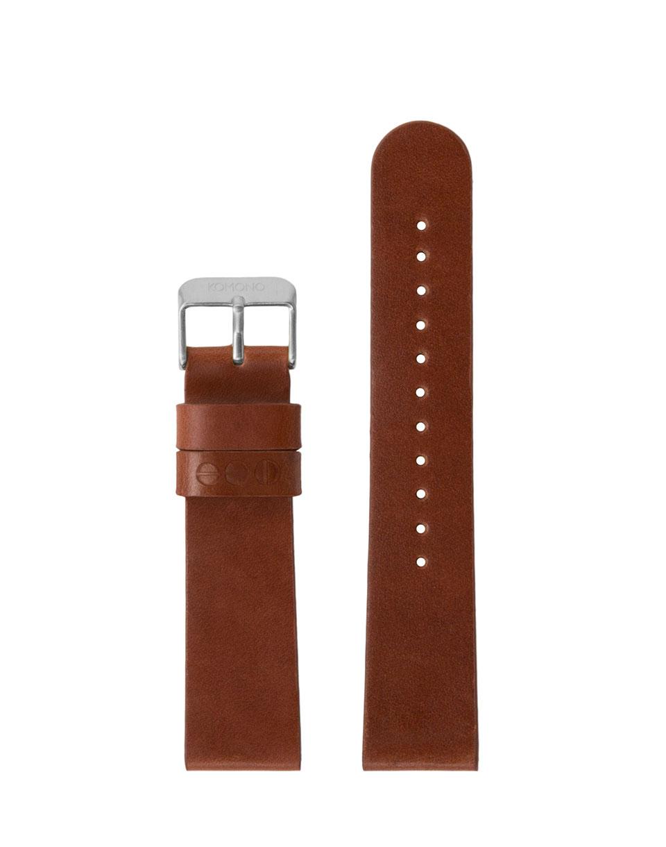 Hodinky Komono Winston / Walther Strap 20 Cognac Silver